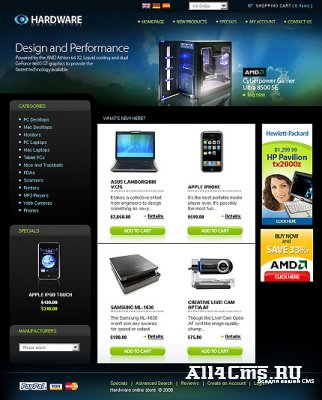 Шаблон Template Monster TM 19748 + Магазин OsCommerce 2.2 Theme Full Pack