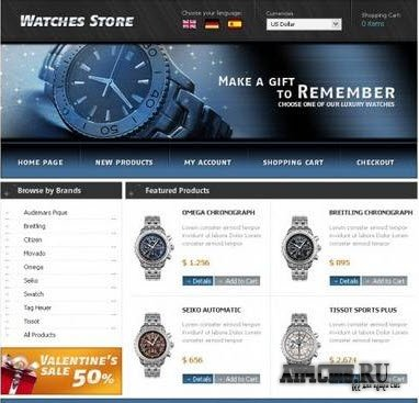Watches Store - ������ ��� OsCommerce
