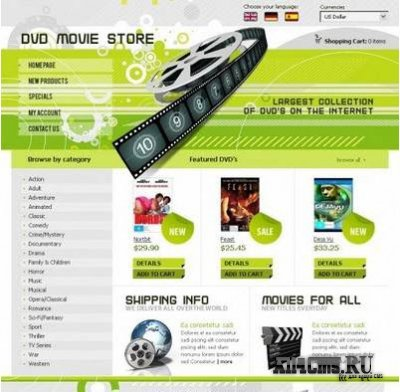 DVD Movie Store - ������ ��� OsCommerce