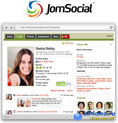 Компонент социальной сети JomSocial v2.6.1 для Joomla