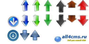 Кнопки плавной прокрутки для сайта
