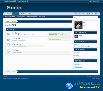 Стиль для XenForo - Social