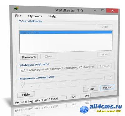 StatBlaster v7.0 - обратные ссылки на ваш сайт