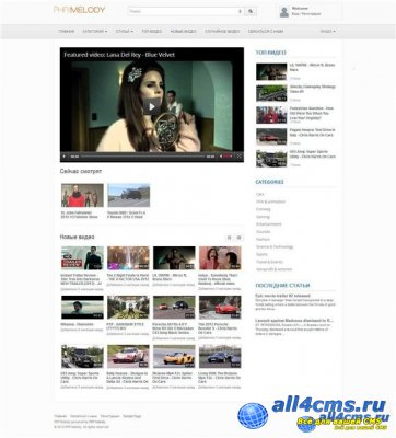 PHP Melody v.2.0 RUS Nulled