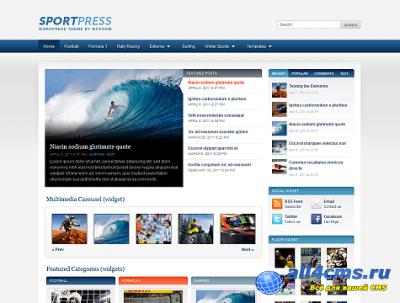Тема SpоrtPress для WP