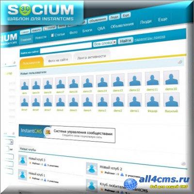 Шаблон Socium 3.0 для InstantCMS.