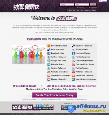 Скрипт поддерживает работу с такими популярными социальными сетями как Youtube, Twitter, Pinterest,Google+, Facebook...