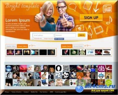 Шаблон Bright Orange для Socialengine