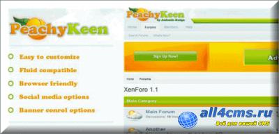 Шаблон  Peachy Keen для XenForo v.1.1.3