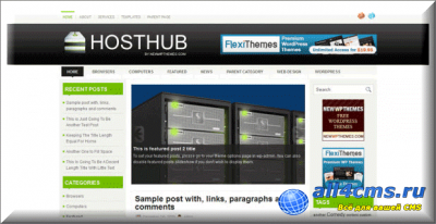Шаблон WP HostHub