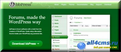 bbPress 2.3 Rus - Плагин форума для Wordpress