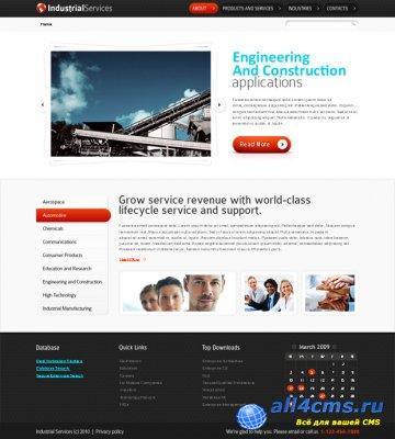 HTML шаблон промышленной компании