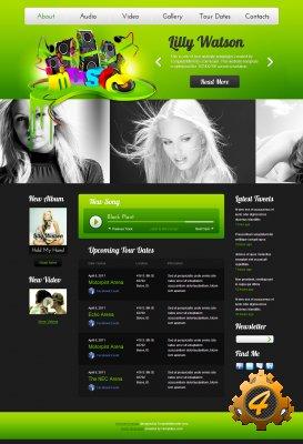 HTML шаблон сайта музыкальной тематики