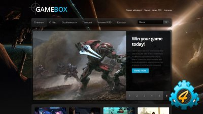 Темный игровой шаблон GameBox v1 для DLE 10