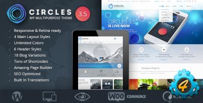 Приватный шаблон Circles для WordPress
