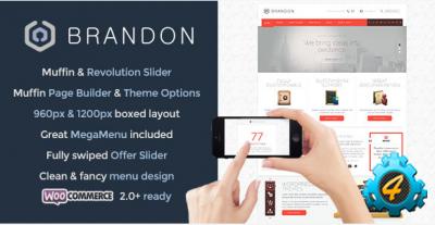 Многоцелевой адаптивный шаблон Brandon для WordPress