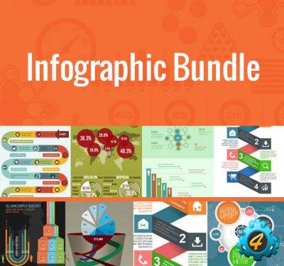 Пак 100+ шаблонов инфографики