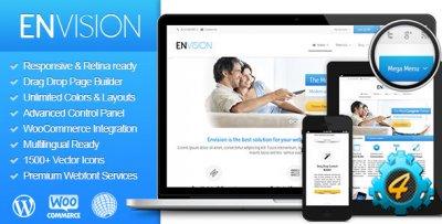 Envision - адаптивный многофункциональный бизнес шаблон