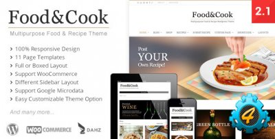 Food & Cook — Multipurpose Food Recipe WooCommerce