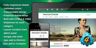 Transformer — универсальный шаблон для Prestashop