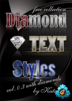 Гламурные бриллиантовые стили для Photoshop