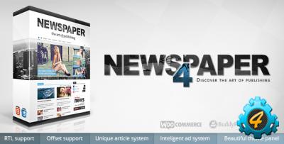 Шаблон Newspaper V 4.0.2 для WP
