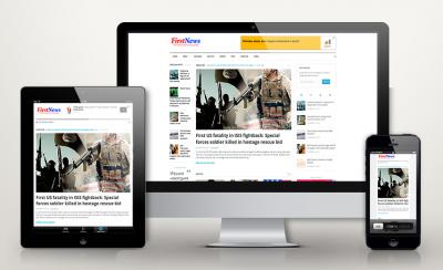 Автонаполняемый новостной сайт - First News (ENG)