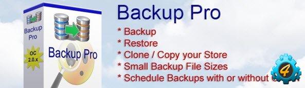 Backup Pro - модуль резервного копирования для Opencart 1.5.x и 2.0