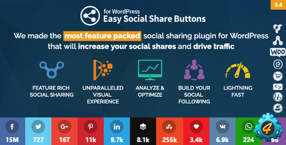 Easy Social Share Buttons v3.4.1