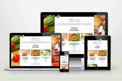 Автонаполняемый кулинарный сайт - Избалованный повар