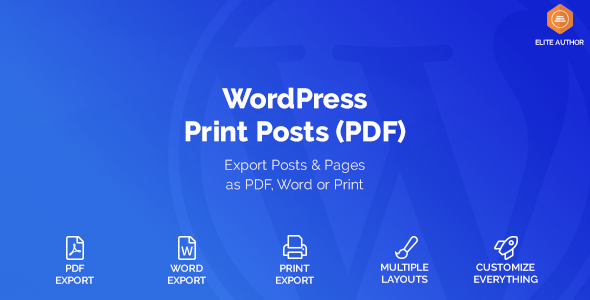 WordPress Print Posts & Pages (PDF) v1.1.6