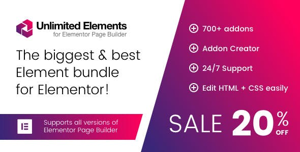 Unlimited Elements for Elementor Page Builder v1.4.49 NULLED