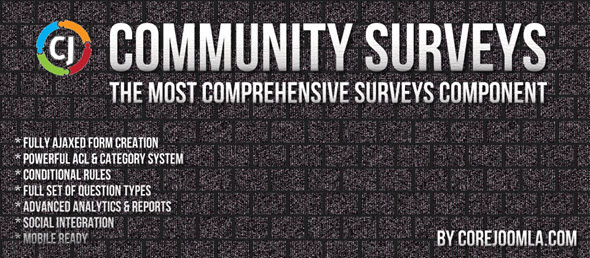 Community Surveys Pro v5.2.2 - опросы для Joomla