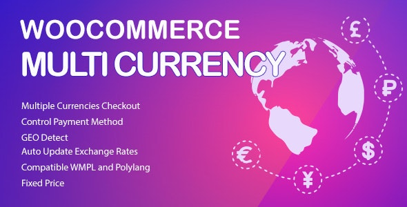 WooCommerce Multi Currency Premium v2.1.6.9 - мультивалютность WooCommerce